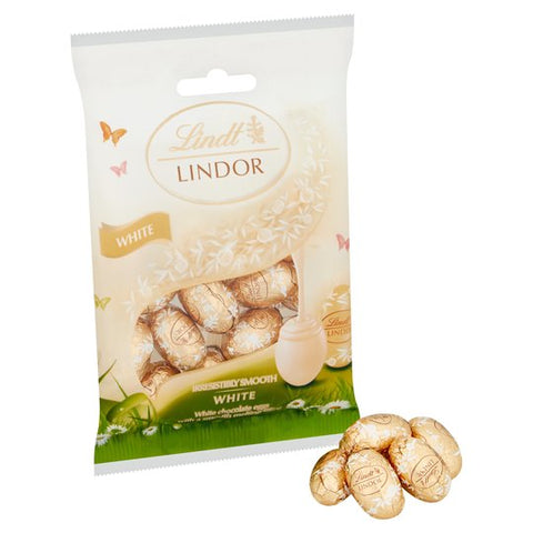 Lindt Lindor White Chocolate EASTER Eggs 80G