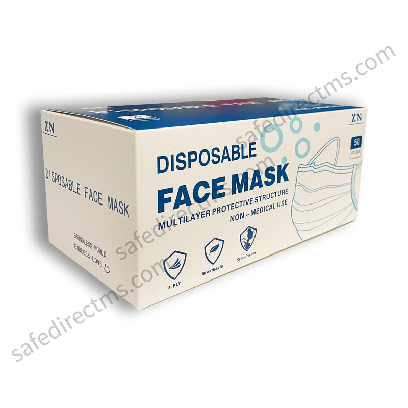 Type 2 Surgical, Non-Medical Mask BFE ≥ 98% With Box