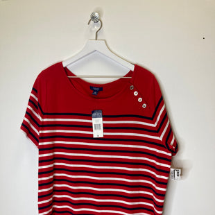 Primary Photo - BRAND: CHAPS STYLE: TOP SHORT SLEEVE COLOR: RED SIZE: 3X SKU: 153-153173-9250