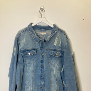 Primary Photo - BRAND:    CLOTHES MENTOR STYLE: JACKET OUTDOOR COLOR: DENIM SIZE: 3X OTHER INFO: JACK & AVERY - SKU: 153-153173-14743