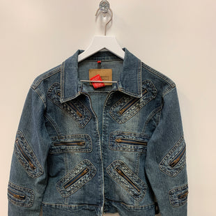 Primary Photo - BRAND:    CLOTHES MENTOR STYLE: JACKET OUTDOOR COLOR: DENIM SIZE: M OTHER INFO: LE MORE - SKU: 153-153173-3824