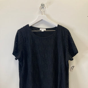 Primary Photo - BRAND: CALVIN KLEIN STYLE: TOP SHORT SLEEVE COLOR: BLACK SIZE: 2X SKU: 153-153173-6097