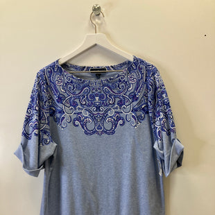 Primary Photo - BRAND: KAREN SCOTT STYLE: TOP SHORT SLEEVE COLOR: BLUE SIZE: 2X SKU: 153-15399-18299