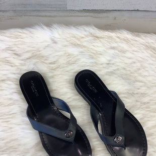 Primary Photo - BRAND: COACH STYLE: FLIP FLOPS COLOR: BLACK SIZE: 6.5 SKU: 153-153173-870