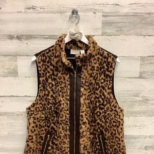 Primary Photo - BRAND: CHICOS STYLE: VEST COLOR: ANIMAL PRINT SIZE: XL SKU: 153-15399-17295