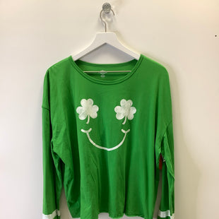 Primary Photo - BRAND:    CLOTHES MENTOR STYLE: TOP LONG SLEEVE COLOR: GREEN SIZE: 2X OTHER INFO: CELEBRATE - SKU: 153-15320-85405
