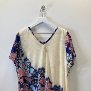 Primary Photo - BRAND: WESTPORT STYLE: TOP SHORT SLEEVE COLOR: CREAM SIZE: 2X SKU: 153-15399-17348