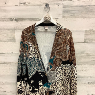 Primary Photo - BRAND: CHICOS STYLE: SWEATER CARDIGAN LIGHTWEIGHT COLOR: ANIMAL PRINT SIZE: XL SKU: 153-15399-17298