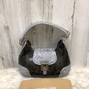 Primary Photo - BRAND: MICHAEL KORS COLLECTION STYLE: HANDBAG DESIGNER COLOR: GREEN SIZE: MEDIUM OTHER INFO: BANCROFT GLITTER PYTHON SKU: 153-153111-43260