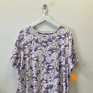 Primary Photo - BRAND: CROFT AND BARROW STYLE: TOP SHORT SLEEVE COLOR: PURPLE SIZE: 2X SKU: 153-153173-9246
