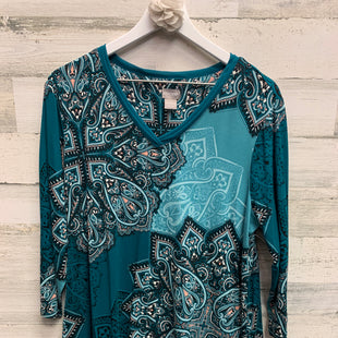 Primary Photo - BRAND: CHICOS STYLE: TOP LONG SLEEVE COLOR: TEAL SIZE: L SKU: 153-15399-17307
