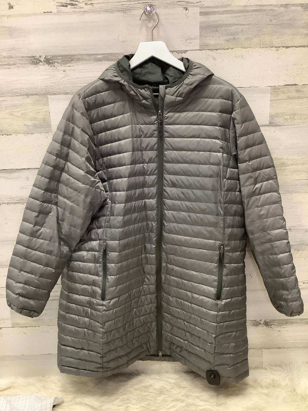 Primary Photo - BRAND: EDDIE BAUER <BR>STYLE: COAT LONG <BR>COLOR: GREY <BR>SIZE: 2X <BR>SKU: 153-15320-82519