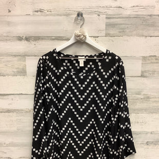 Primary Photo - BRAND: CHICOS STYLE: TOP LONG SLEEVE COLOR: BLACK WHITE SIZE: XL SKU: 153-15399-17293