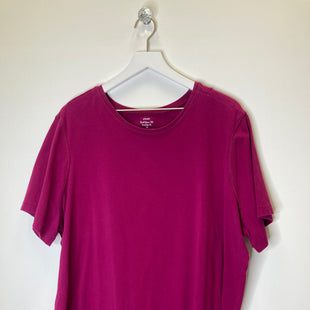 Primary Photo - BRAND: CJ BANKS STYLE: TOP SHORT SLEEVE BASIC COLOR: RASPBERRY SIZE: 3X SKU: 153-15399-16030