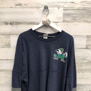 Primary Photo - BRAND:    CLOTHES MENTOR STYLE: TOP LONG SLEEVE COLOR: BLUE SIZE: 2X OTHER INFO: KNIGHTS APPAREL - SKU: 153-153164-15749