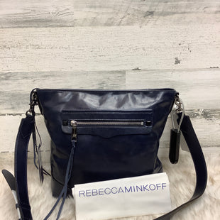 Primary Photo - BRAND: REBECCA MINKOFF STYLE: HANDBAG LEATHER COLOR: NAVY SIZE: LARGE SKU: 153-153111-39744