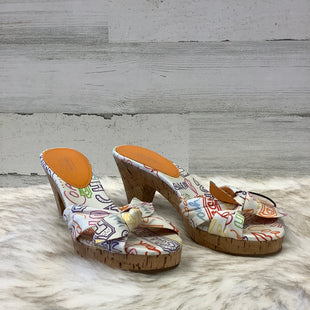 Primary Photo - BRAND: COACH STYLE: SANDALS HIGH COLOR: WHITE ORANGE SIZE: 8 SKU: 153-153173-1218