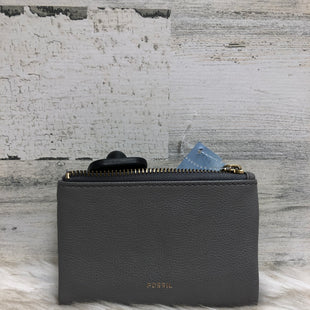 Primary Photo - BRAND: FOSSIL STYLE: WALLET COLOR: GREY SIZE: SMALL SKU: 153-15320-79497
