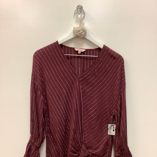 Primary Photo - BRAND: JUICY COUTURE STYLE: TOP LONG SLEEVE COLOR: MAROON SIZE: S SKU: 153-153173-6050