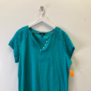 Primary Photo - BRAND: CHAPS STYLE: TOP SHORT SLEEVE COLOR: BLUE GREEN SIZE: 3X SKU: 153-15320-81799