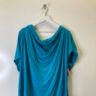 Primary Photo - BRAND: CATO STYLE: TOP SHORT SLEEVE COLOR: AQUA SIZE: 3X SKU: 153-153173-10451