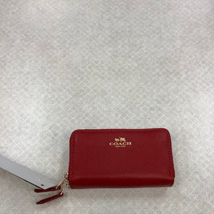 Primary Photo - BRAND: COACH STYLE: WALLET COLOR: RED SIZE: SMALL SKU: 153-153169-4080