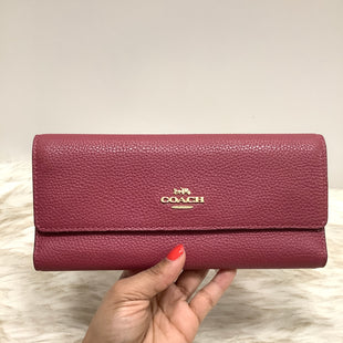 Primary Photo - BRAND: COACH STYLE: WALLET COLOR: PINK SIZE: MEDIUM SKU: 153-15311-42115