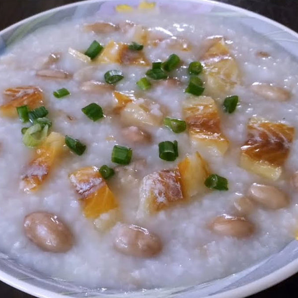 (32 OZ) CONGEE WITH FISH, PORK RIB, PEANUT  柴魚花生排骨粥