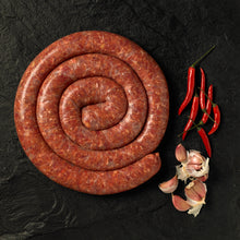 Load image into Gallery viewer, Chilli & Garlic Boerewors 400g
