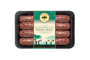 Countrystyle 3 Meat Boerie Dogs 530g