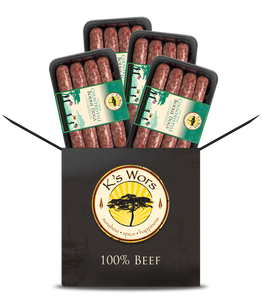 4 PACK BUNDLE of Countrystyle BEEF BOERIE DOGS (made from 100% beef)