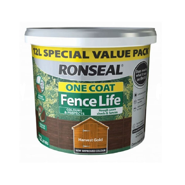 RONSEAL 1 COAT FENCELIFE HARVEST GOLD 12L
