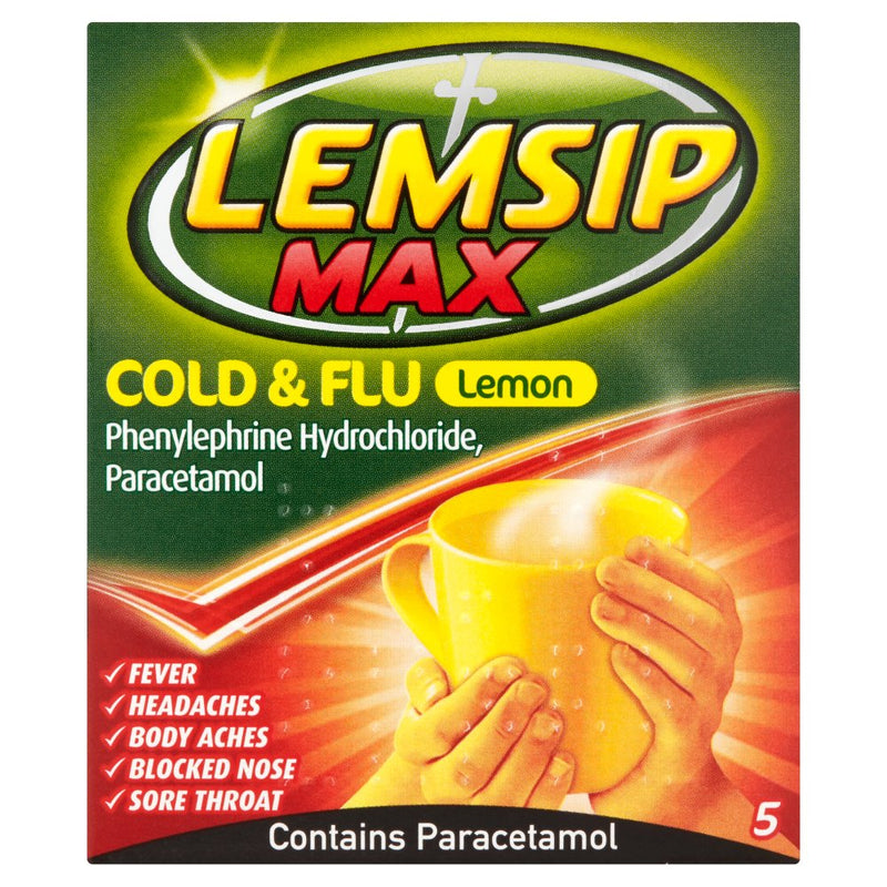 LEMSIP COLD & FLU LEMON 5s