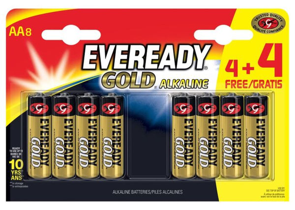 EVEREADY AA BATTERIES 4+4