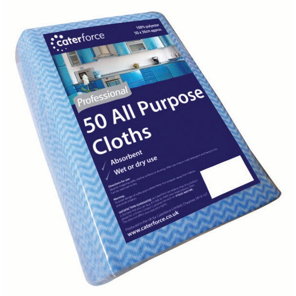 Blue All Purpose Cloths - Caterforce pack 50