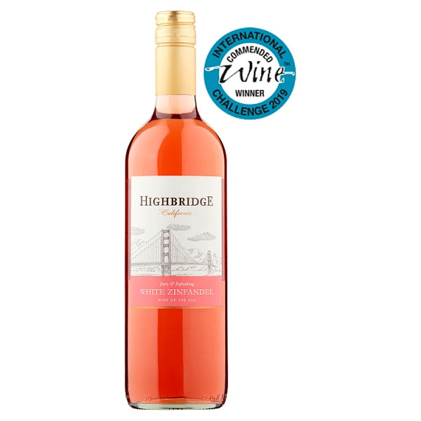 Highbridge California White Zinfandel 75cl X 6 Bottles CASE