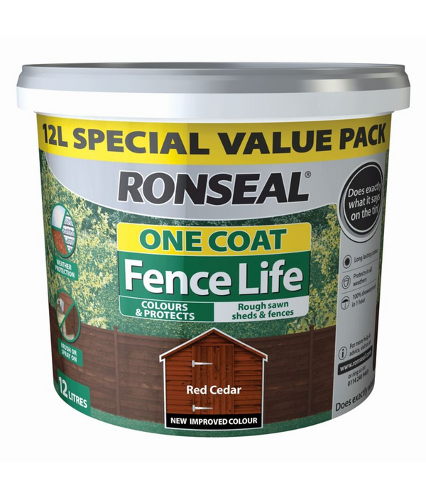 RONSEAL 1 COAT FENCELIFE RED CEDAR  12L