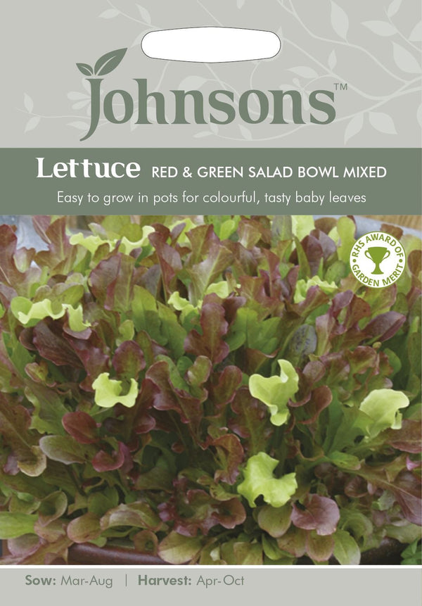 Johnsons Lettuce Red & Green Salad Bowl Mixed SEEDS