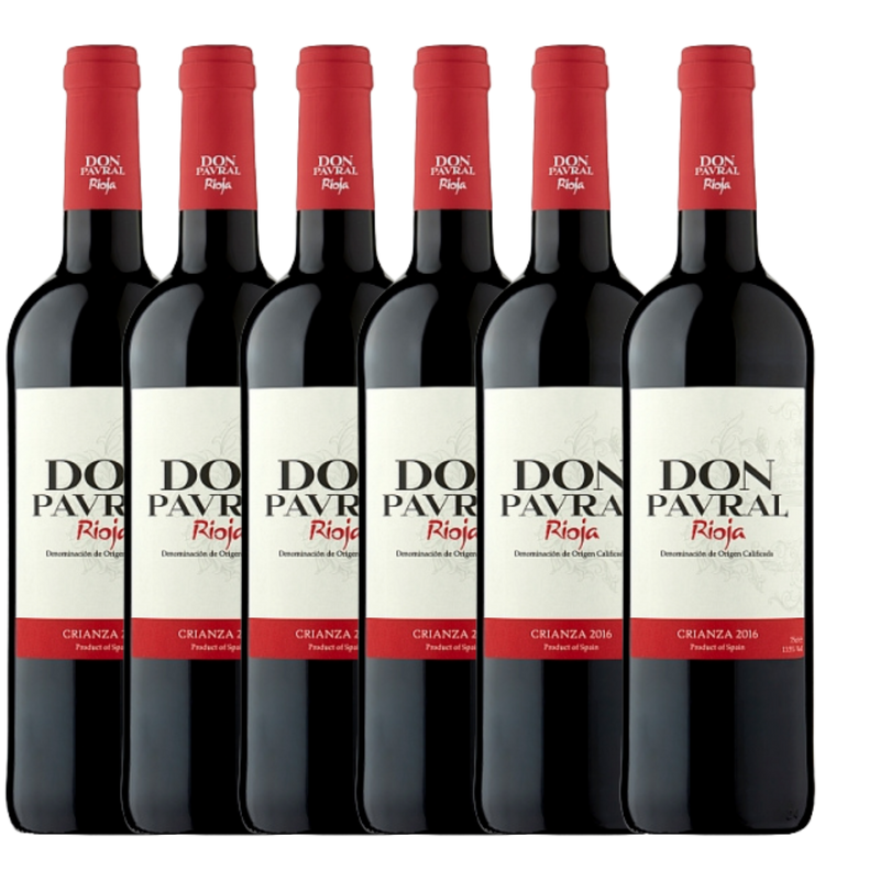 Don Pavral Rioja Crianza 75cl X 6 Bottles