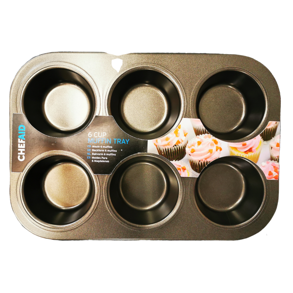 Chef Aid Muffin Pan 6 cup