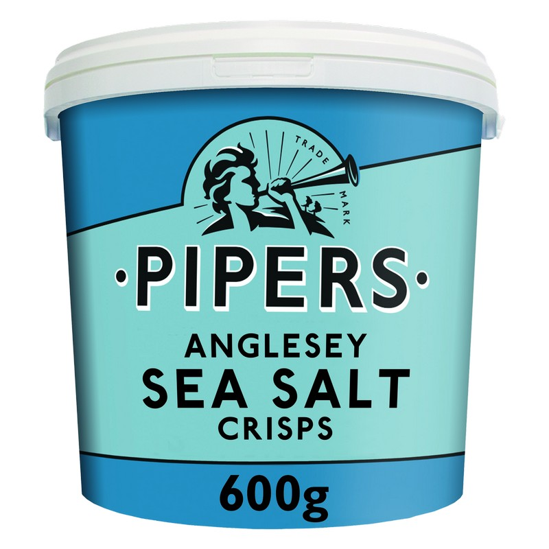Anglesey Sea Salt Crisps in a Resealable Bucket 600g
