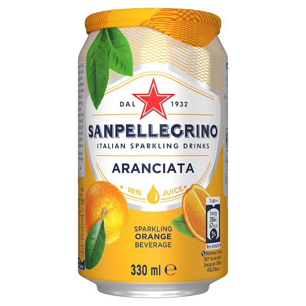 San Pellegrino Aranciata Sparkling Drink Orange 330ml
