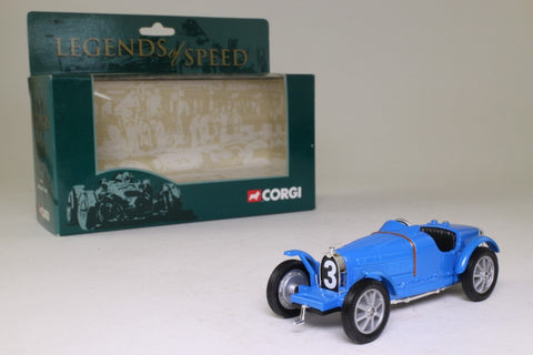Corgi Classics 00202; Bugatti Type 35; Blue - Legends of Speed