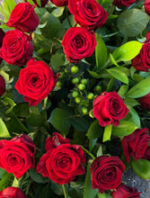 Load image into Gallery viewer, Red Rose Casket Spray