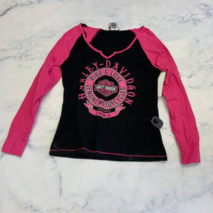 Primary Photo - BRAND: HARLEY DAVIDSON STYLE: TOP LONG SLEEVE COLOR: BLACK SIZE: M SKU: 315-31513-81424