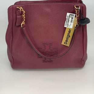 Primary Photo - BRAND: TORY BURCH STYLE: HANDBAG DESIGNER COLOR: MAROON SIZE: LARGE SKU: 315-31525-3482MINOR WEAR ON CORNERS