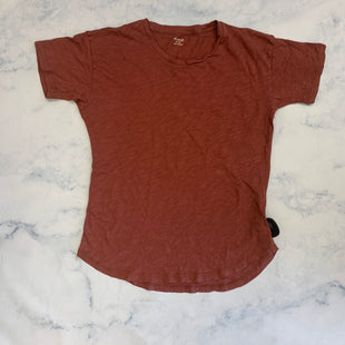 Primary Photo - BRAND: MADEWELL STYLE: TOP SHORT SLEEVE BASIC COLOR: RUST SIZE: XS SKU: 315-31513-83054