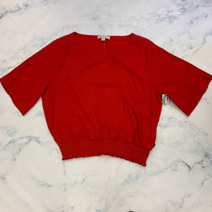 Primary Photo - BRAND: MICHAEL BY MICHAEL KORS STYLE: TOP SHORT SLEEVE COLOR: RED SIZE: XXL SKU: 315-31513-82736