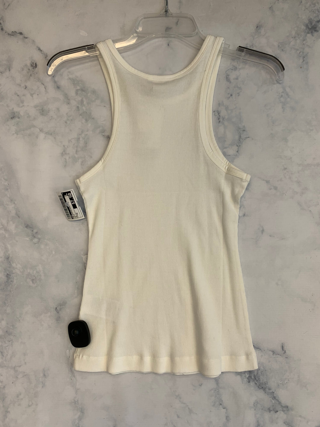 Photo #1 - BRAND: H&M <BR>STYLE: TOP SLEEVELESS <BR>COLOR: WHITE <BR>SIZE: XS <BR>SKU: 315-31513-74453