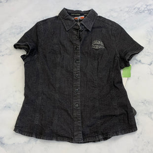 Primary Photo - BRAND: HARLEY DAVIDSON STYLE: TOP SHORT SLEEVE COLOR: BLACK SIZE: M SKU: 315-31513-81425